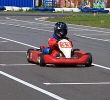 racer Go-kart front view by mrivserg