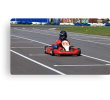 racer Go-kart front view Canvas Print