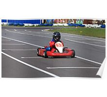 racer Go-kart front view Poster