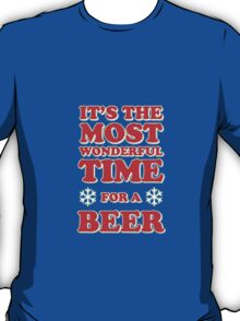 ITS THE MOST WONDERFUL TIME FOR A BEER, MERRY CHRISTMAS T-Shirt