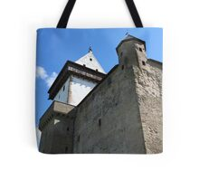 medieval castle against the sky Tote Bag