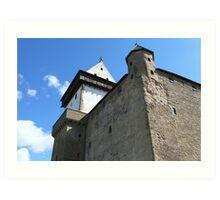medieval castle against the sky Art Print