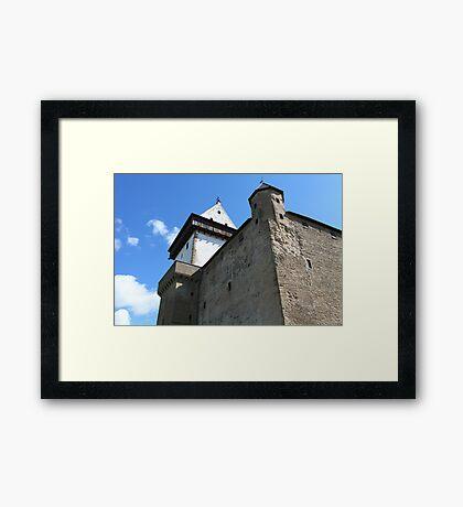 medieval castle against the sky Framed Print