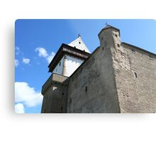 medieval castle against the sky Metal Print
