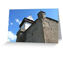 medieval castle against the sky Greeting Card