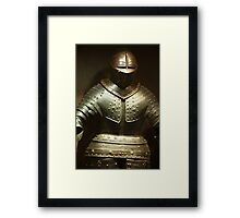 steel knightly armor Framed Print