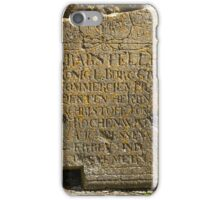 ancient gravestone iPhone Case/Skin