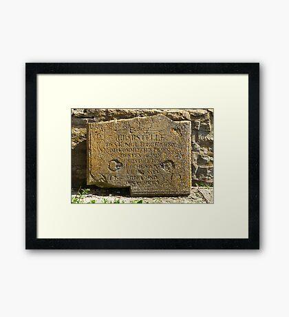 ancient gravestone Framed Print