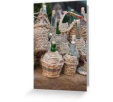 barrel of wine Greeting Card