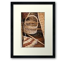 old basket Framed Print