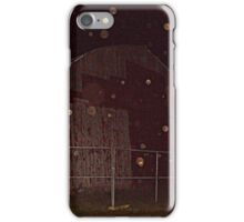 Old Red Barn and Irridescent Orbs, Wagner Farm, Halloween Night iPhone Case/Skin