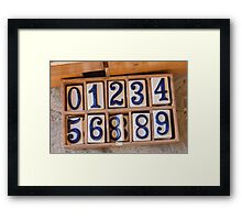art of number Framed Print