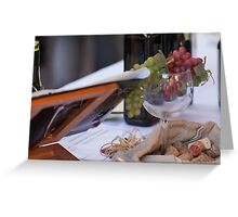 glass on table at restaurant Greeting Card