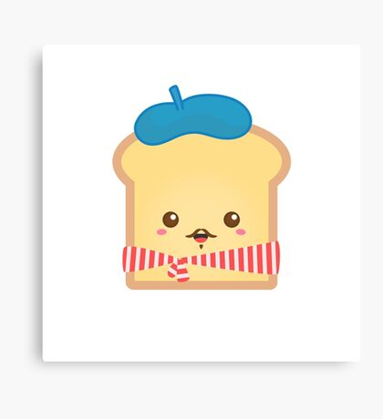 Cute French Toast with Moustache Canvas Print