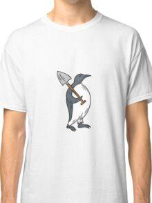 Emperor Penguin Holding Shovel Drawing Classic T-Shirt