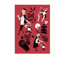 Dracula and Son Art Print