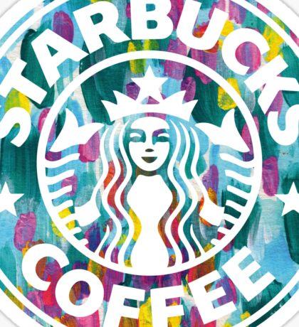 Painted Starbucks Logo Sticker