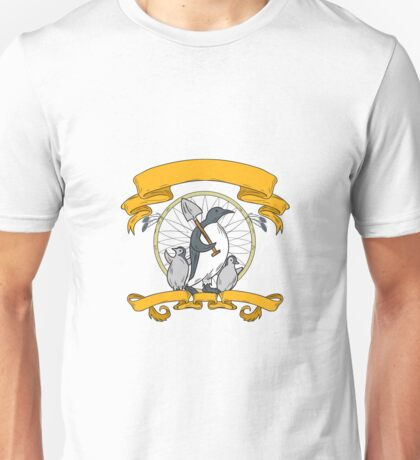 Penguin Shovel Chick Dreamcatcher Drawing Unisex T-Shirt