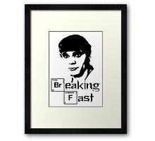 Breaking Fast Framed Print
