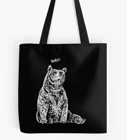 Bear with Crown Tote Bag