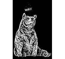 Bear with Crown Photographic Print