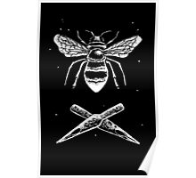 Bee and ink nibs Poster