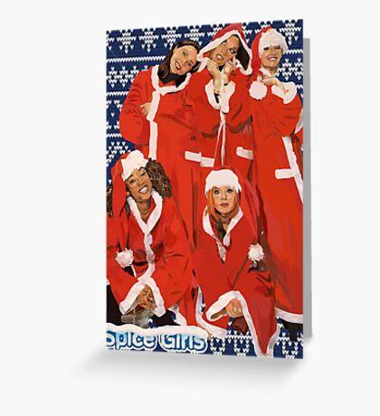 Spice Girls Christmas  Greeting Card