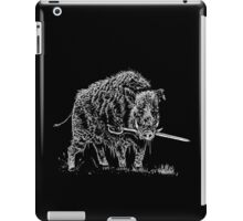 Commitment to your cause (boar and sword) iPad Case/Skin