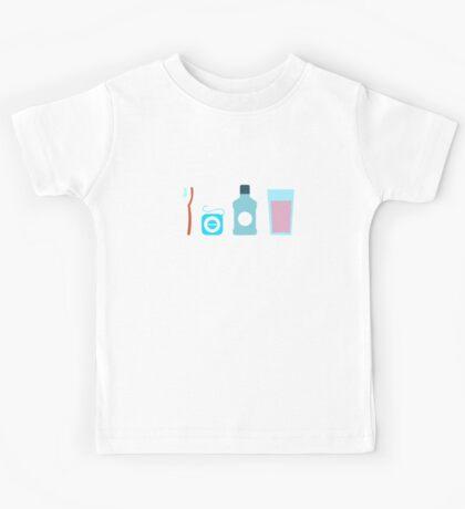 Squad Goals Dental Hygienist T-Shirt - Dentist Toothbrush Floss Kids Tee