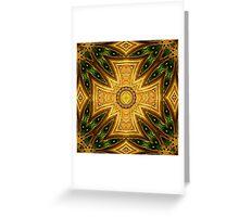Maltese-Celtic Combo Stained-Glass Window Mandala Greeting Card