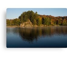 Bright and Sunny Fall Reflections Canvas Print