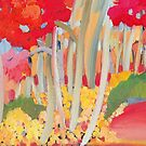 Autumn Woodland by marlene veronique holdsworth