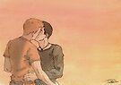 Kissing Bruno by Ivan Bruffa