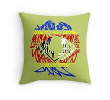 SWAZILAND WOLF LOVE FLAG Throw Pillow