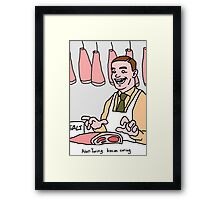 Alan Turing, bacon curing. Framed Print