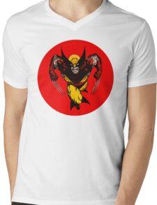 Classic Wolverine •X-Men Mens V-Neck T-Shirt