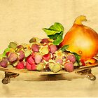 Raspberries and an onion by brijo