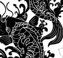 Koi Carp Tattoo - all black Sticker