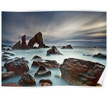 Sea Arch At Crohy Head Poster