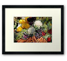 Variaty of vegetables Framed Print