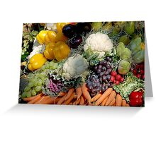 Variaty of vegetables Greeting Card