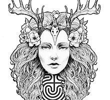 Horned Goddess by Juliana Loomer by julieloomer