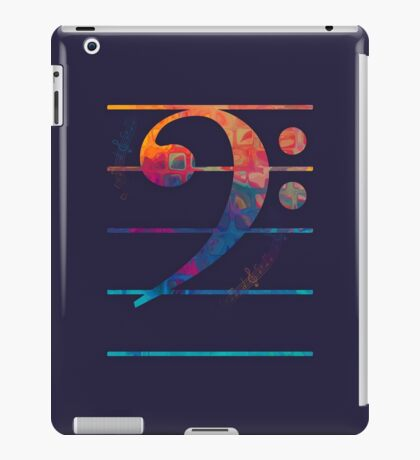 Bass Clef Color iPad Case/Skin