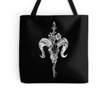 Ram Skull and Spear Tote Bag