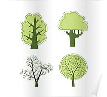 Vector trees Poster