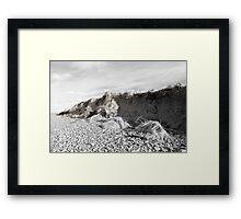 dunes after the big storm Framed Print