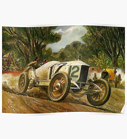 GRAND PRIX; Vintage Auto Racing Print Poster