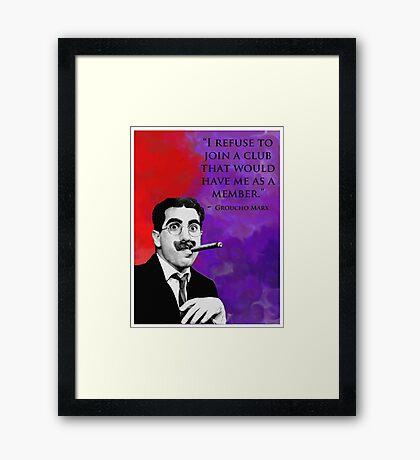 Groucho Marx Framed Print
