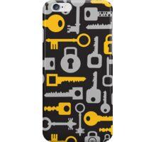 Keys and locks on a black iPhone Case/Skin