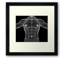 Male Chest Matrix Mesh Framed Print